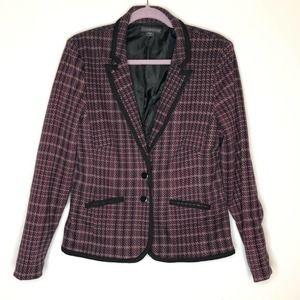Covington plaid double button blazer